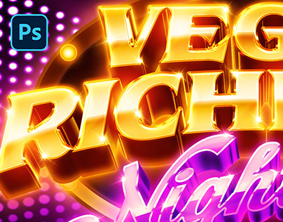[DOWNLOAD PSD] NIGHTCLUB / CASINO LOGO AND TEXT EFFECT