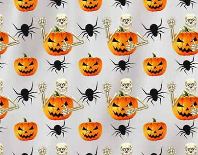 Halloween Pattern print