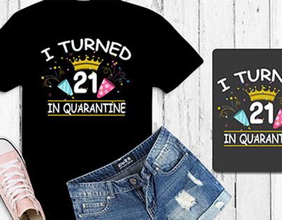 Funny typography Unique birthday Tshirt design