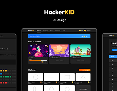 HackerKID UI Design