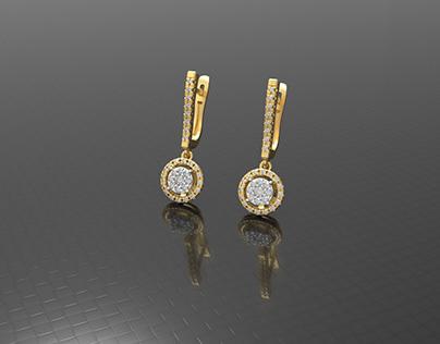 Luxury wedding earring
