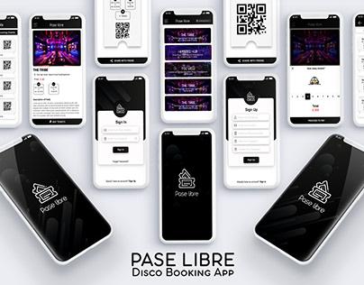 PaseLibre (Disco Booking App)