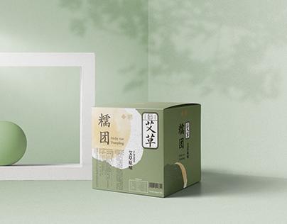 青团包装设计—金陵饭店sticky rice dumpling Packaging Design