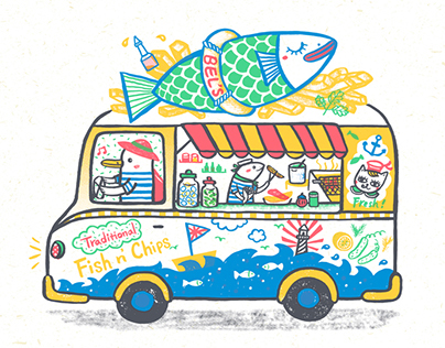 Vehicle theme illustration