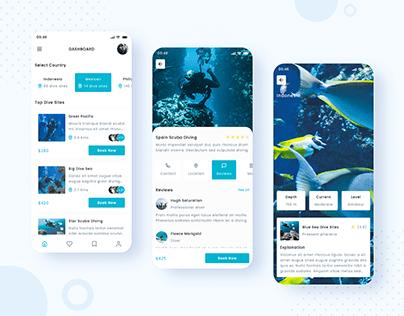 Scuba Diving App UI Design