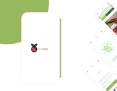 Vegetable & Fruits Mobile App Design