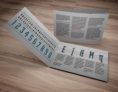 Industria Font Brochure