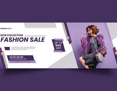 NEW COLLECTION SALE /FACEBOOK COVER BANNER DESIGN
