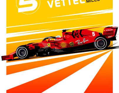 Sebastian Vettel poster