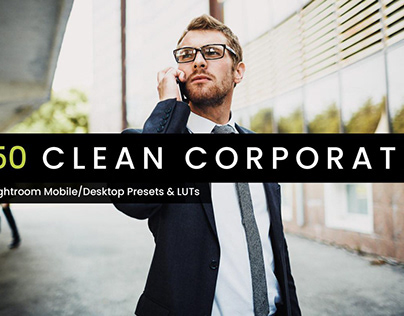 50 Clean Corporate Lightroom Presets