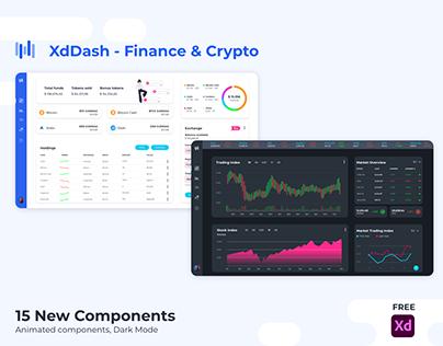 XdDash UI Kit - Finance & Crypto