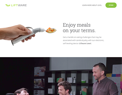 Landing page for Verily / Liftware
