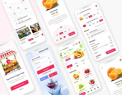 Fruits Store Ecommerce Mobile App UI Kit