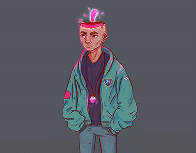 Character design-liquid skull