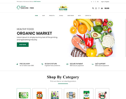 Ecommerce RBS Fram Website UI