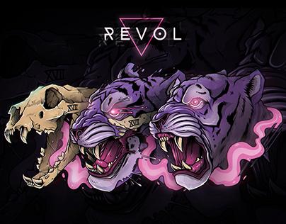 Illustration: Tiger (Revol Skateboards)