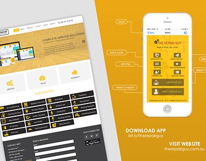 The Repair Guy - Web and Mobile App Design