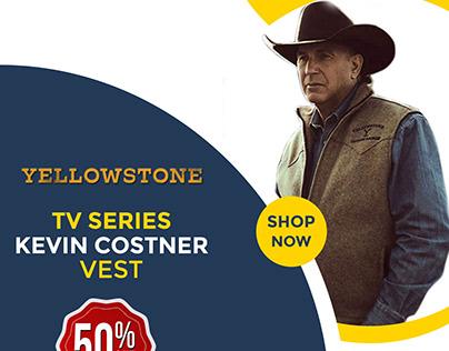 Stylish Wool TV Series Yellowstone Kevin Costner Vest