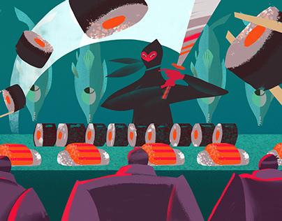 Food magazine illustrations