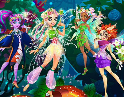 Fairy dress-up game