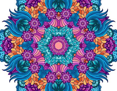 Multicolor mandalas.