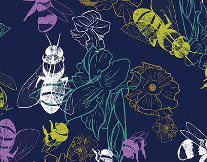 Save the Bees Pattern Design
