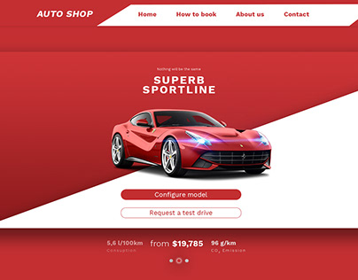 web page for Auto shop