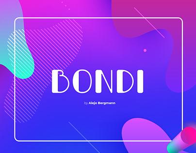 Bondi Free Font Typeface