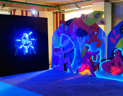 Bombay Canvas installation