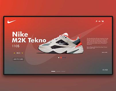 Nike M2k Tekno Landing Page