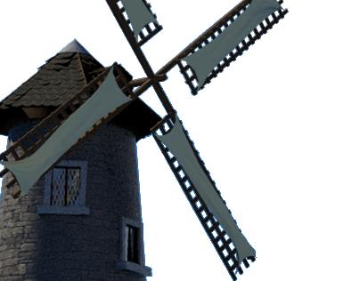 3D Windmill Scene