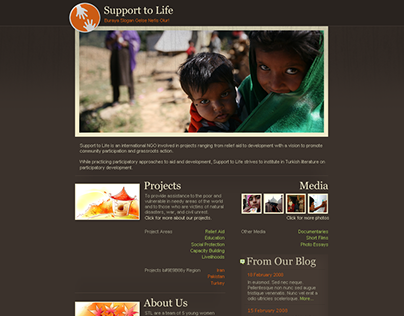 Support to Life Charity Website 2008