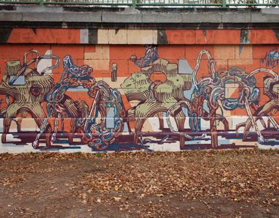 Mural collaboration: Mots & HNRX // Vienna 2019