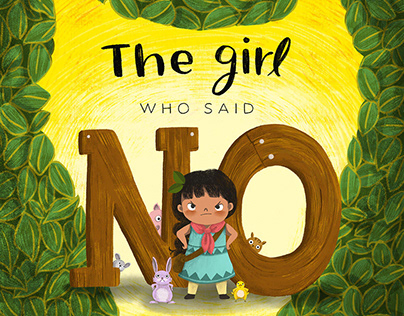 The girl who said NO! | Picture book Illustration