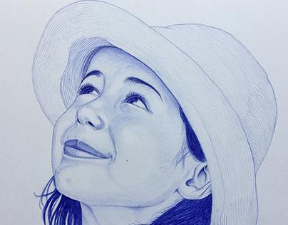Retratos personalizados a bolígrafo