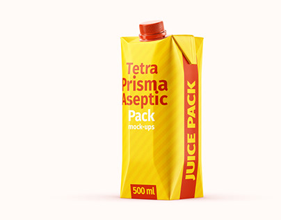 Tetra Pak. Prisma Pack (500 ml) Mockup Set