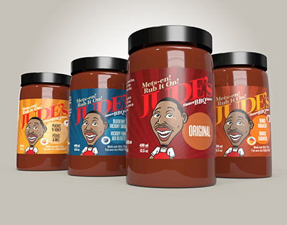 Jude's BBQ Sauce Packaging