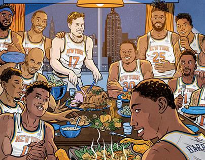 Illustrating the New York Knicks