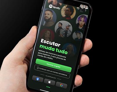 Redesign Spotify Login Page | #DailyUI001