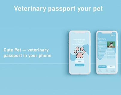 Mobile app for veterinary passport