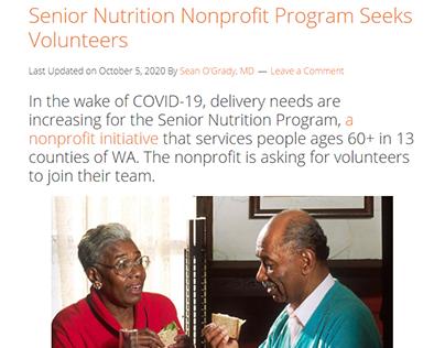 Nutrition Nonprofit Needs Volunteers