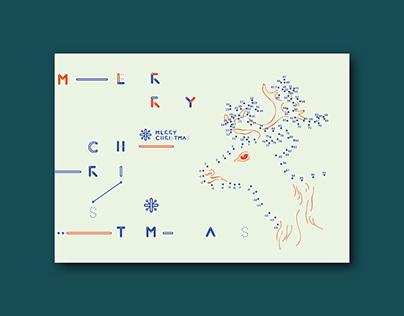 聖誕遊戲賀卡 │ Merry Christmas Card - Connect the Dots