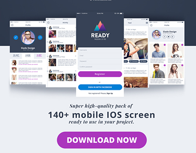 Ready Professional Premium IOS Mobile UI Kit