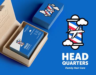 Brand Identity Logo Design Head Quarters Barber - Salon