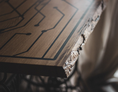 Singer Wood Epoxy Table