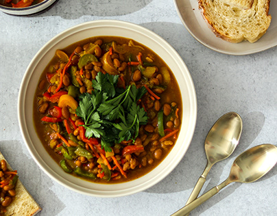 Curry Bean Stew with Vegetables