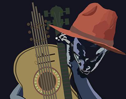 Digital Illustration: Abstract music poster