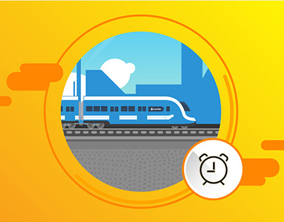 Tren Rosario - Vector illustrations