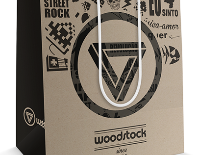 Sacolas - loja Woodstock