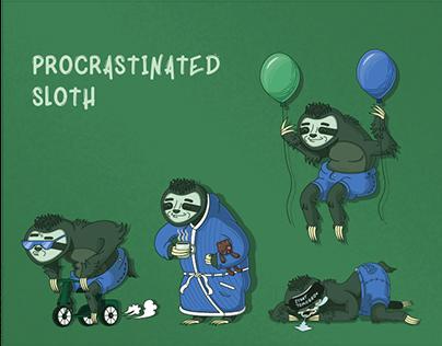 Illustration design - Procrastinated sloth